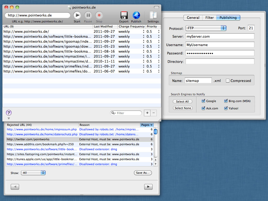 iGooMap - XML Sitemap Generator