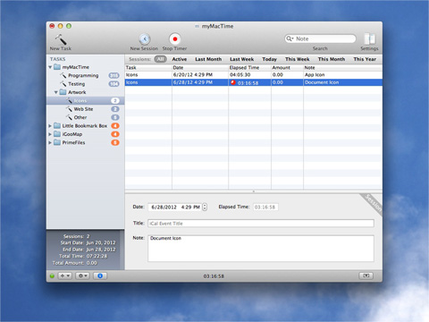 myMacTime 1.7.5 screenshot