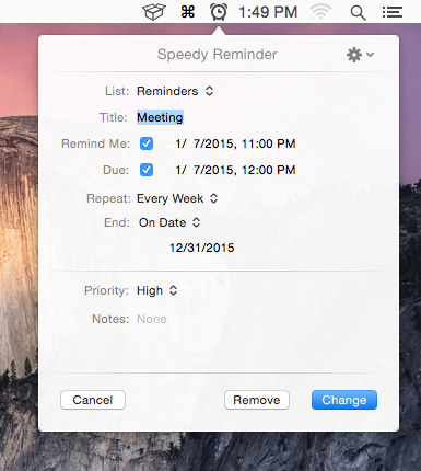 how to add reminders on mac homescreen